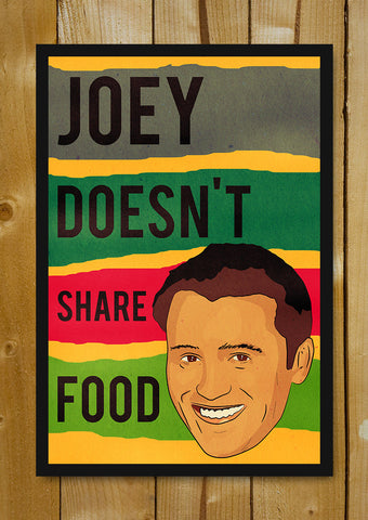 Glass Framed Posters, Joey Food Friends Vintage Glass Framed Poster, - PosterGully - 1