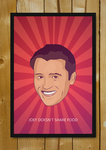 Glass Framed Posters, Joey Food Strips Friends Glass Framed Poster, - PosterGully - 1