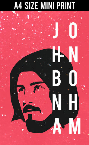 Mini Prints, John Bonham | Drummer | Led Zeppelin | Mini Print, - PosterGully
