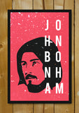 Glass Framed Posters, John Bonham Drummer Led Zeppelin Glass Framed Poster, - PosterGully - 1