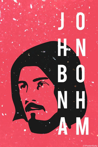 Wall Art, John Bonham | Drummer | Led Zeppelin, - PosterGully