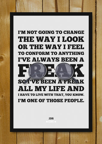 Glass Framed Posters, John Lennon Nonconformist Quote Glass Framed Poster, - PosterGully - 1