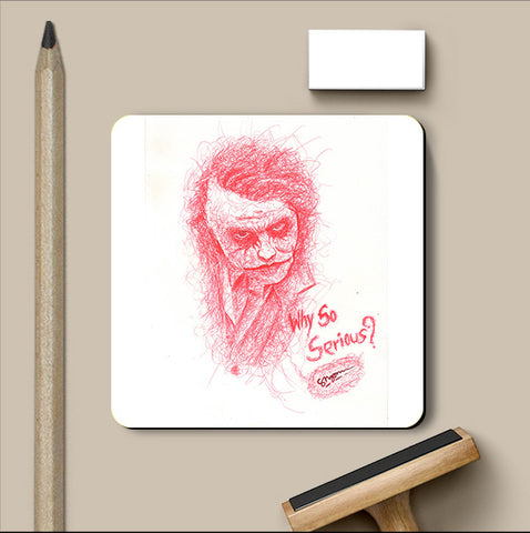 PosterGully Coasters, Joker So Serious Coaster | Artist: Shyam Zawar, - PosterGully