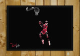 Glass Framed Posters, Jordan Slam Dunk Glass Framed Poster, - PosterGully - 1