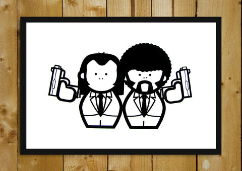 Glass Framed Posters, Jules & Vincent Cartoon Art Glass Framed Poster, - PosterGully - 1