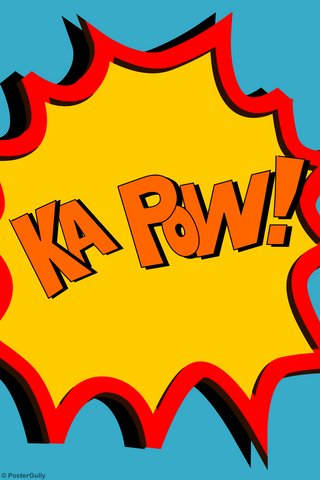 Wall Art, Ka Pow Comic Sfx, - PosterGully