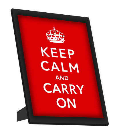 Framed Art, Keep Calm & Carry On(Mini) Framed Art, - PosterGully
