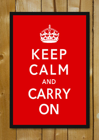Glass Framed Posters, Keep Calm & Carry On (Mini) Glass Framed Poster, - PosterGully - 1
