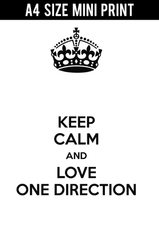 Mini Prints, Keep Calm | Listen To One Direction | Mini Print, - PosterGully