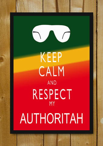 Glass Framed Posters, Keep Calm & Respect Authoritah South Park Glass Framed Poster, - PosterGully - 1