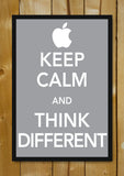 Glass Framed Posters, Keep Calm & Think Different Glass Framed Poster, - PosterGully - 1