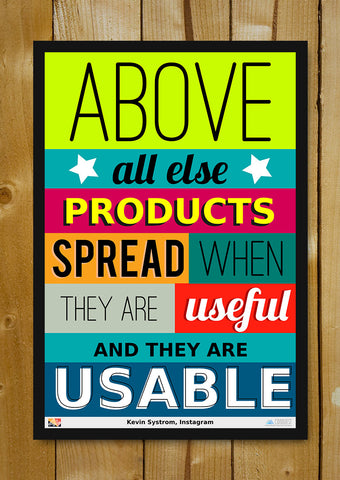 Glass Framed Posters, Kevin Systrom On Products Glass Framed Poster, - PosterGully - 1