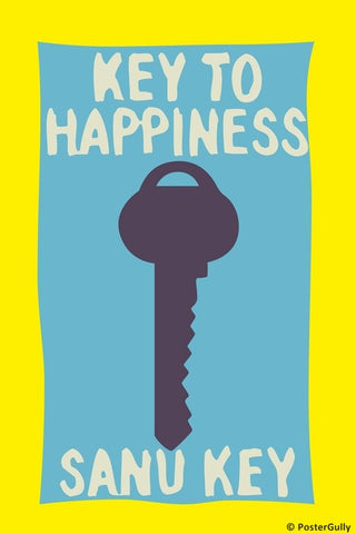 Wall Art, Key To Happiness Humour, - PosterGully