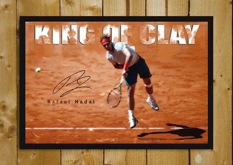 Glass Framed Posters, King Of Clay Rafael Nadal Glass Framed Poster, - PosterGully - 1