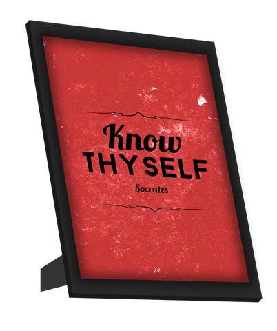 Framed Art, Know Thyself Socrates Quote Framed Art, - PosterGully