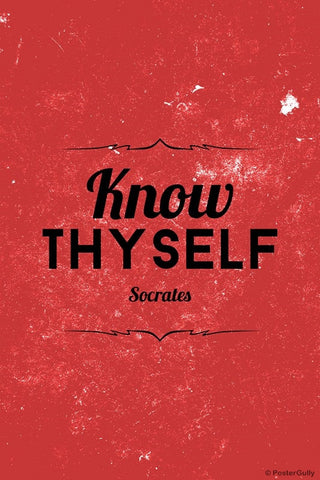 Wall Art, Know Thyself Socrates Quote, - PosterGully