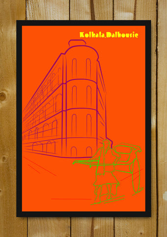 Glass Framed Posters, Kolkata Dalhousie City Artwork Glass Framed Poster, - PosterGully - 1