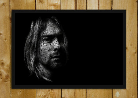 Glass Framed Posters, Kurt Cobain Glass Framed Poster, - PosterGully - 1