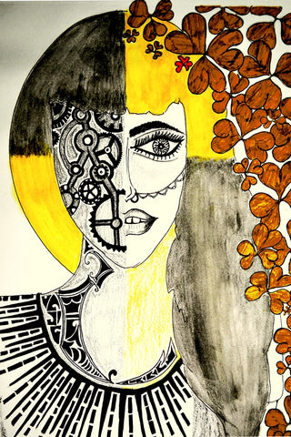 Lady Abstract Artwork | Artist: Awanika Anand