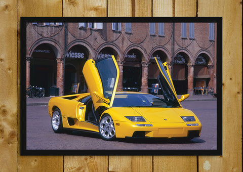 Glass Framed Posters, Lamborghini Diablo Glass Framed Poster, - PosterGully - 1