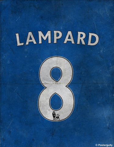 PosterGully Specials, Lampard No. 8 Minimal Football Poster, - PosterGully