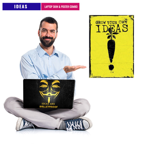IDEAS  | Laptop Skin & Poster Combo