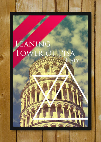 Glass Framed Posters, Leaning Tower of Pisa Triangle Glass Framed Poster, - PosterGully - 1