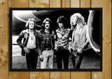 Glass Framed Posters, Led Zeppelin Band Members Glass Framed Poster, - PosterGully - 1