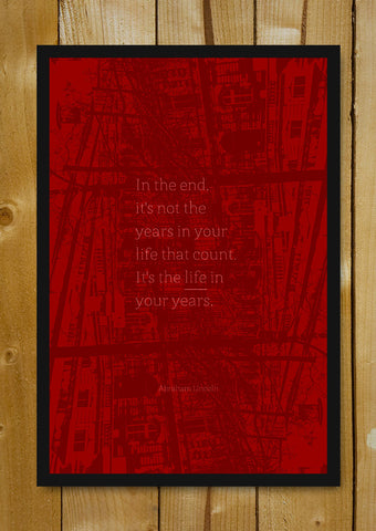 Glass Framed Posters, Life In Years Abraham Lincoln Glass Framed Poster, - PosterGully - 1