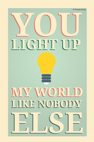 Wall Art, Light Up Quote, - PosterGully