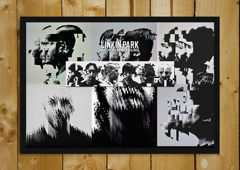 Glass Framed Posters, Linkin Park Abstract Art Poster Glass Framed Poster, - PosterGully - 1