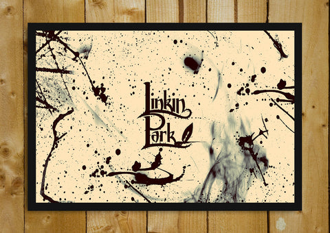 Glass Framed Posters, Linkin Park Wallpaper Design Glass Framed Poster, - PosterGully - 1