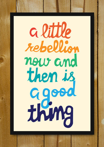 Glass Framed Posters, Little Rebellion Colorful Glass Framed Poster, - PosterGully - 1