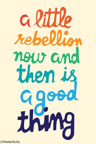 Wall Art, Little Rebellion Colorful, - PosterGully