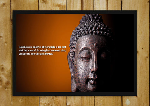Glass Framed Posters, Lord Buddha Quote Glass Framed Poster, - PosterGully - 1