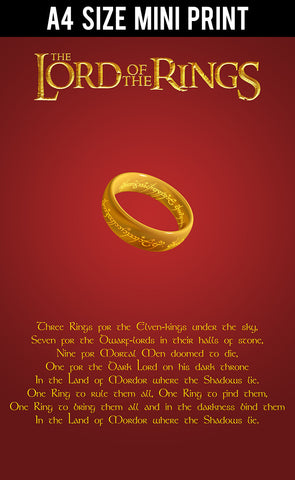 Mini Prints, Lord Of The Rings Quotation | Mini Print, - PosterGully