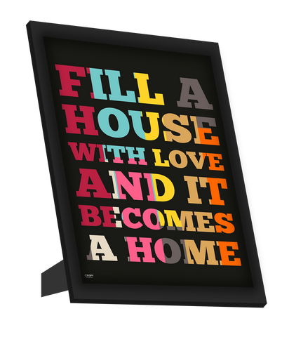 Framed Art, Love In Home Framed Art, - PosterGully