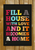 Glass Framed Posters, Love In Home Glass Framed Poster, - PosterGully - 1