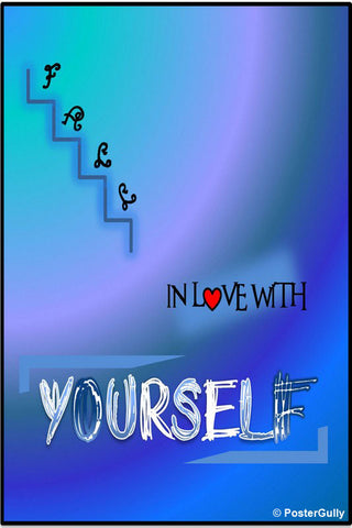 Wall Art, Love Yourself Artwork | Artist: Shravya Gunipudi, - PosterGully - 1