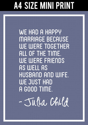 Mini Prints, Lovers | Julia Child Quote | Mini Print, - PosterGully