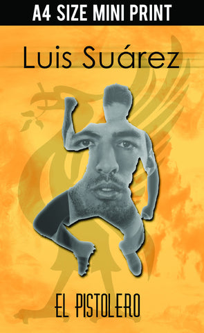 Mini Prints, Luis Suarez | Liverpool | Mini Print, - PosterGully