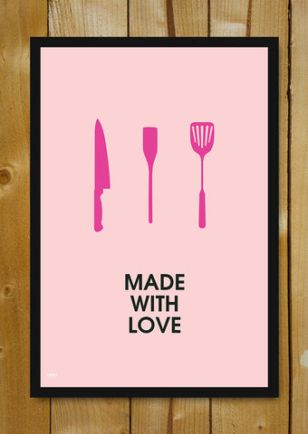 Glass Framed Posters, Made With Love Glass Framed Poster, - PosterGully - 1
