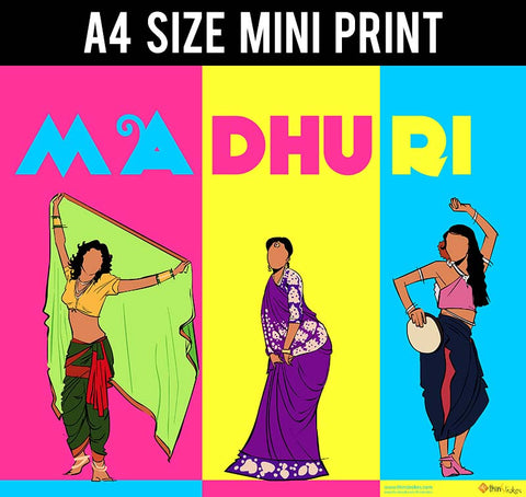 Mini Prints, Madhuri Dixit | Pop Art | Mini Print, - PosterGully