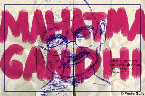 Wall Art, Mahatma Gandhi | Laugh | Quote, - PosterGully