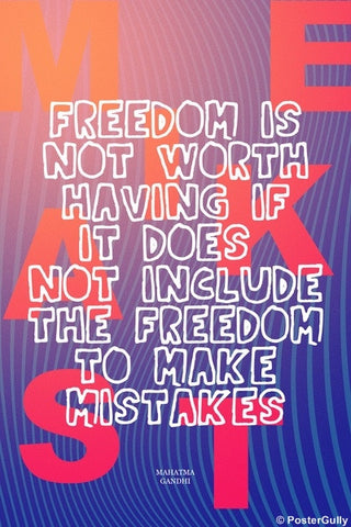 Wall Art, Mahatma Gandhi Quote | Freedom, - PosterGully