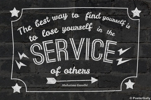 Wall Art, Mahatma Gandhi Quote | Service, - PosterGully