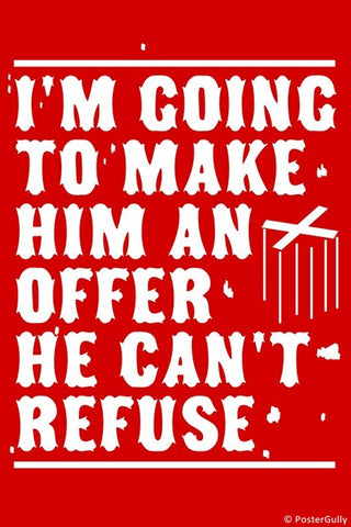 Wall Art, Make Him An Offer Godfather, - PosterGully