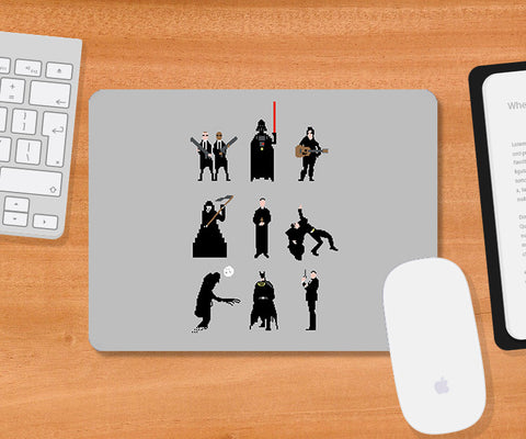 Mousepads, Men In Black Grey Mousepad | By Captain Kyso, - PosterGully