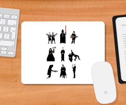 Mousepads, Men In Black White Mousepad | By Captain Kyso, - PosterGully