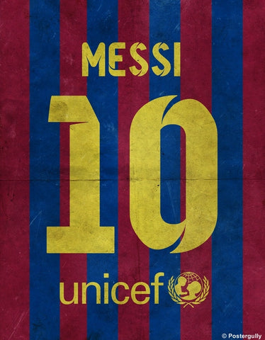 PosterGully Specials, Messi No. 10 Minimal Football Poster, - PosterGully